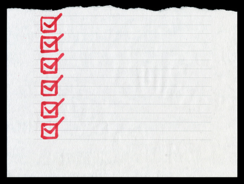 Adhesive Note「Checklist in the lined paper textured background」:スマホ壁紙(14)