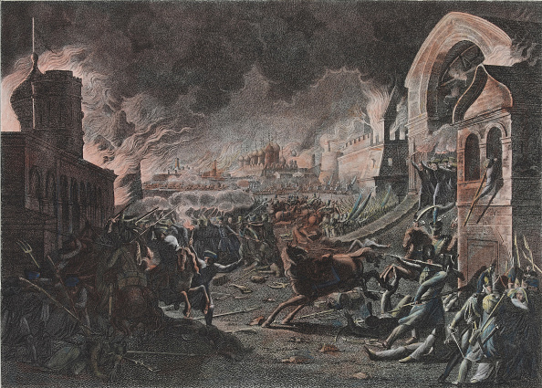 Etching「Fire Of Moscow On September 1812 (The French In Moscow)」:写真・画像(7)[壁紙.com]
