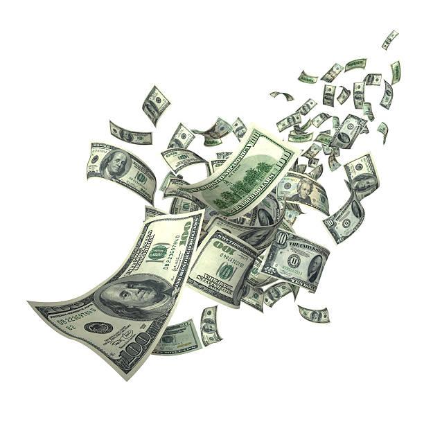 Falling Money Bills (XXXL):スマホ壁紙(壁紙.com)