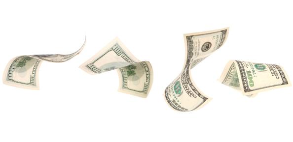 American One Hundred Dollar Bill「Falling Money」:スマホ壁紙(6)