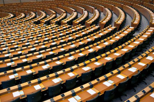 Politics「Semi-Circle of Empty Seats European Parliament Brussels」:スマホ壁紙(7)