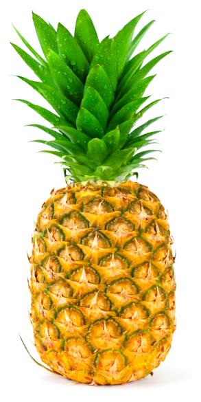 Pineapple「Ripe pineapple isolated」:スマホ壁紙(7)