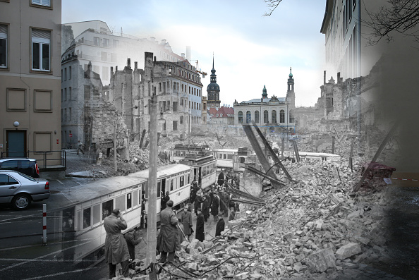 World War II「Dresden Firebombing: Overlay Images Show Then And Today」:写真・画像(3)[壁紙.com]
