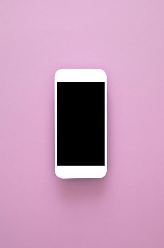 ピンク色「ピンクのスマートフォン」:スマホ壁紙(1)