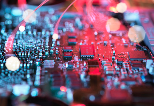 Circuit Board「Inside a laptop computer, mother board and electronic components」:スマホ壁紙(16)
