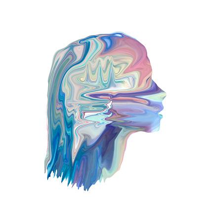 Female Likeness「figurative light painting resembling digital head」:スマホ壁紙(2)