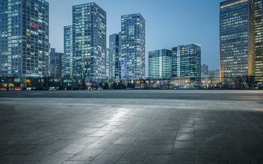 Parking Lot「modern building group of Beijing」:スマホ壁紙(11)