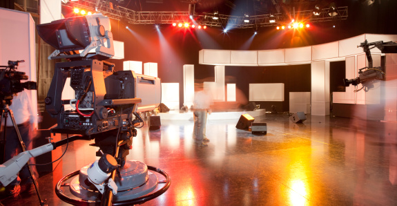 Television Industry「Empty television studio with camera」:スマホ壁紙(6)