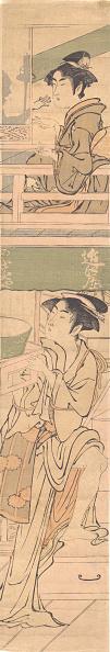Architectural Feature「Two Women. Creator: Attributed To Yumiaki Toriyama.」:写真・画像(0)[壁紙.com]