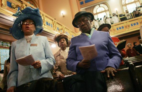 Church「The Faithful Celebrate Easter At Harlem Church」:写真・画像(14)[壁紙.com]