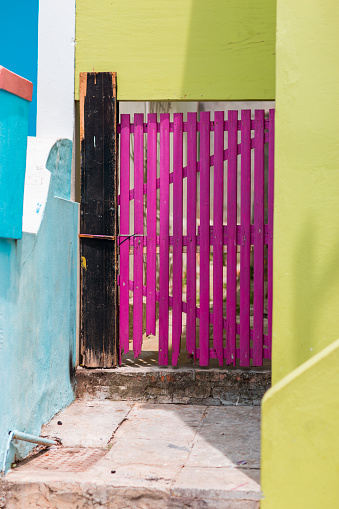 Malay Quarter「Colorful fence and house details at Bo Kaap」:スマホ壁紙(0)