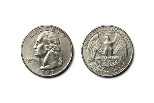 US Paper Currency「US Dollar Quarter Coin」:スマホ壁紙(14)