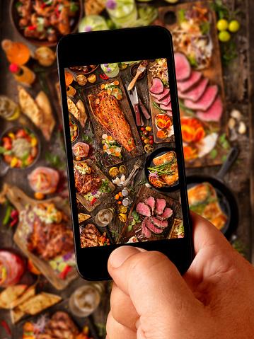 Chicken Wing「Food Selfie of bbq Feast」:スマホ壁紙(17)