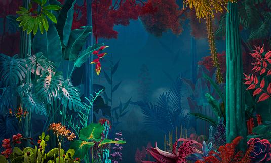 Fairy「fairy and surreal night jungle/ garden」:スマホ壁紙(9)