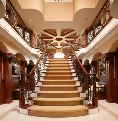 Steps and Staircases「residential Luxury stairway in home entrance」:スマホ壁紙(1)