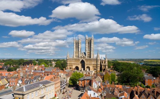 Townscape「Lincoln Cathedral, Lincoln,」:スマホ壁紙(16)
