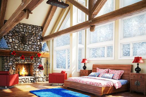Chalet「Luxury Bedroom (Christmas Theme)」:スマホ壁紙(1)