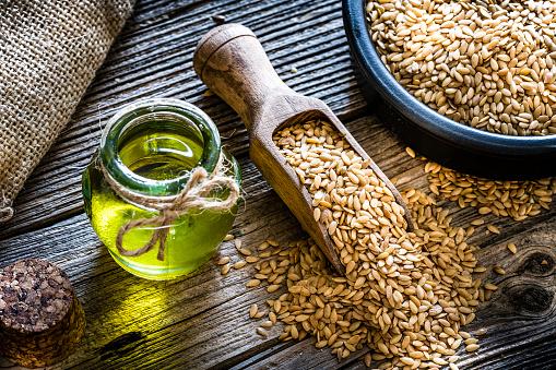 Seed「Healthy eating: Ffax seed oil and flax seeds」:スマホ壁紙(2)