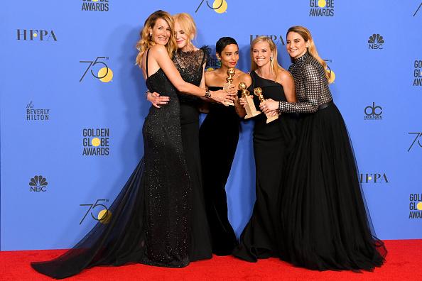 Golden Globe Award trophy「75th Annual Golden Globe Awards - Press Room」:写真・画像(9)[壁紙.com]