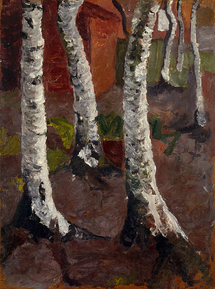 Painting - Activity「Birch Trees In Front Of Red House Wall」:写真・画像(18)[壁紙.com]