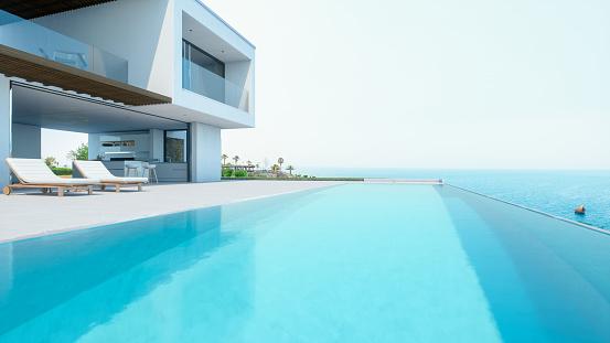 Resort Swimming Pool「Luxury Holiday Villa With Infinity Pool」:スマホ壁紙(1)