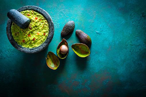 Recipe「Guacamole prepared in molcajete with avocado」:スマホ壁紙(14)
