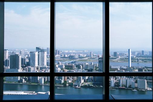 Shinbashi - Tokyo「View from skyscraper at Tokyo Bay.」:スマホ壁紙(8)