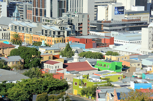 Malay Quarter「View from Signal Hill of Bo Kaap Malaysian Quarter, Cape Town South Africa.」:スマホ壁紙(1)