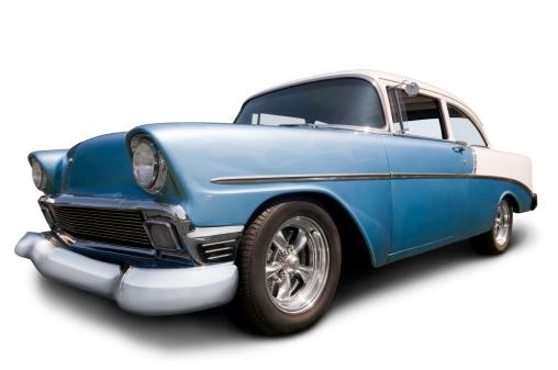 Hot Rod Car「Classic 1956 Chevrolet on white w/ clipping path」:スマホ壁紙(17)