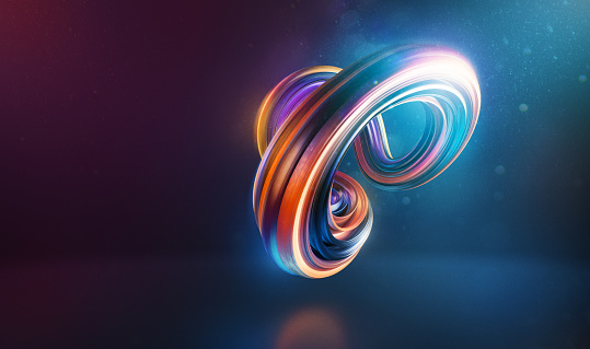 Flexibility「Abstract curved and twisted shape 3d render」:スマホ壁紙(16)
