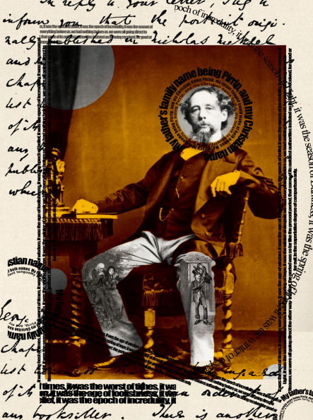 Computer Graphic「Charles Dickens collage」:写真・画像(10)[壁紙.com]