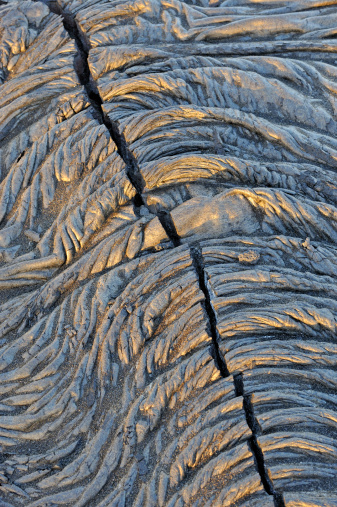 Active Volcano「Crack in a  cooled pahoehoe lava flow」:スマホ壁紙(13)