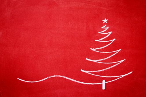 Chalk - Art Equipment「Christmas tree on the redboard」:スマホ壁紙(15)