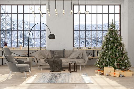 Celebration「Christmas Tree in Living Room」:スマホ壁紙(8)
