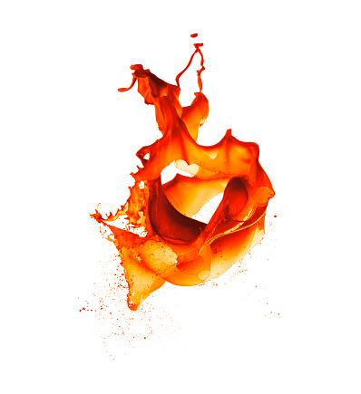 Color Image「Orange Paint Splash」:スマホ壁紙(9)