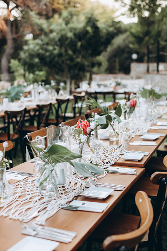 Party - Social Event「Table setting for an event party or wedding reception」:スマホ壁紙(8)