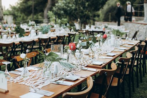 Formalwear「Table setting for an event party or wedding reception」:スマホ壁紙(8)
