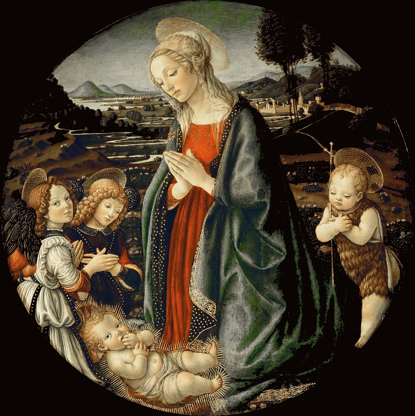 Painting - Activity「The Virgin Adoring The Christ Child With Saint John The Baptist And Two Angels」:写真・画像(2)[壁紙.com]