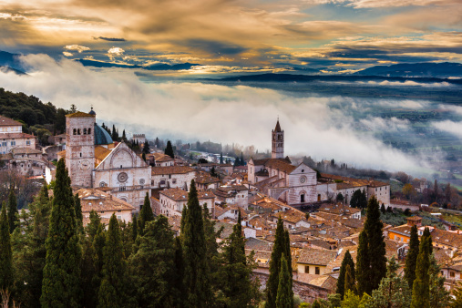 Cathedral「Assisi Cathedral and Basilica of Saint Clare」:スマホ壁紙(2)
