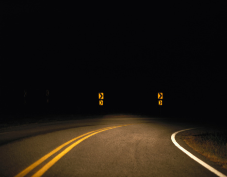 Hairpin Curve「Road at Night」:スマホ壁紙(17)