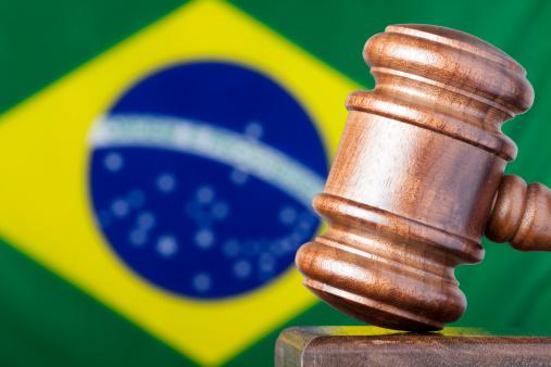 Legal System「Selective focus image of gavel against Brazil flag」:スマホ壁紙(1)