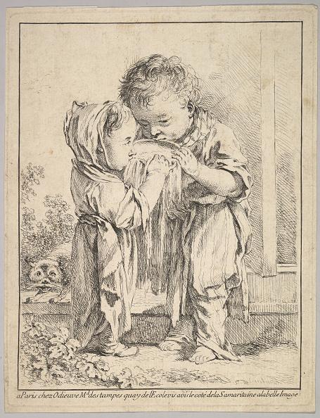 Etching「Les Petits Buveurs De Lait (The Little Milk Drinkers)」:写真・画像(4)[壁紙.com]