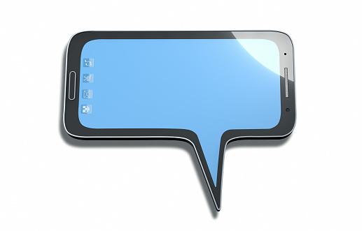 Mobile Phone「Speech balloon looking like a smartphone」:スマホ壁紙(10)