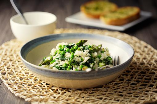 Asparagus「Vegan asparagus,spinach garden pea risotto」:スマホ壁紙(18)