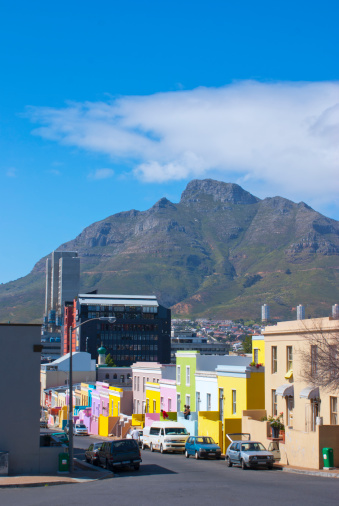 Malay Quarter「Devil?s Peak mountain from Bo Kaap, Cape Town.」:スマホ壁紙(12)