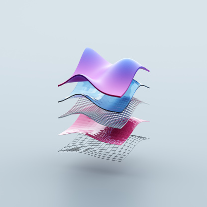 Square Shape「Layers of different materials」:スマホ壁紙(11)