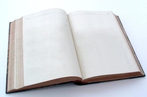 Hardcover Book「Blank open book」:スマホ壁紙(13)