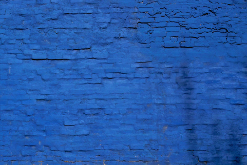 Deterioration「Blue Brick Wall」:スマホ壁紙(15)