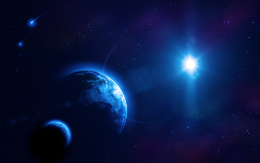 Moon「Earth, moon and sun」:スマホ壁紙(1)