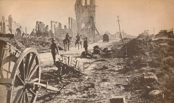 Material「The battered remains of Ypres after the last shell had done its worst, showing the ruins of the fam Artist: Unknown」:写真・画像(16)[壁紙.com]